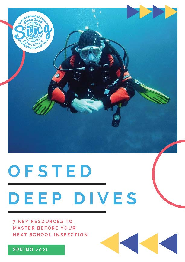 """Image of diver with text """"Ofsted Deep Dives"""""""