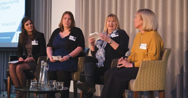 Main panel at Schools Week made up of four female staff